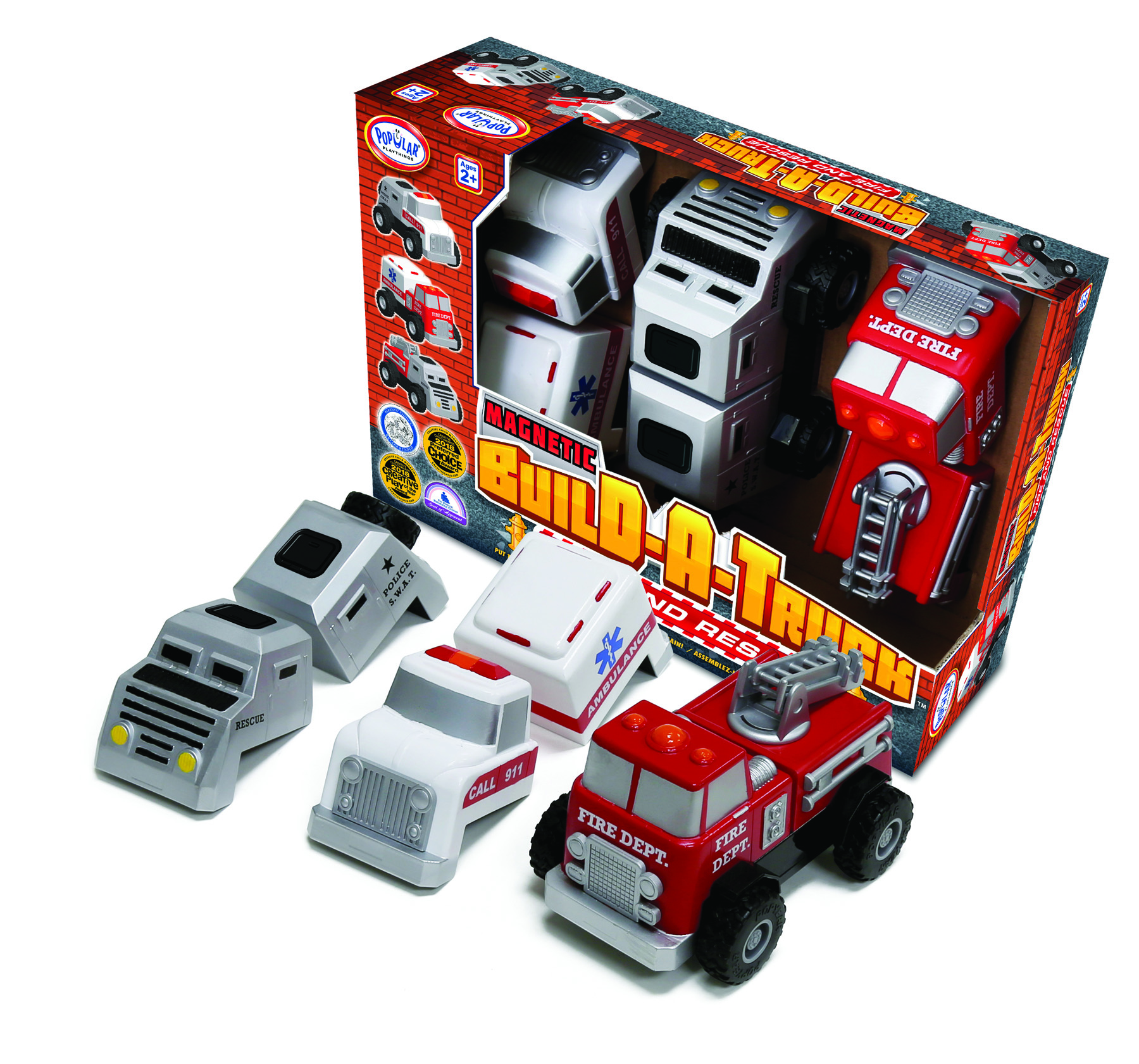 Build A Truck >> Magnetic Build A Truck Rescue